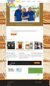 SeaBreeze International website design