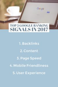 Top Ranking Signals of 2017