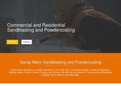 Sandy Mann Sandblasting