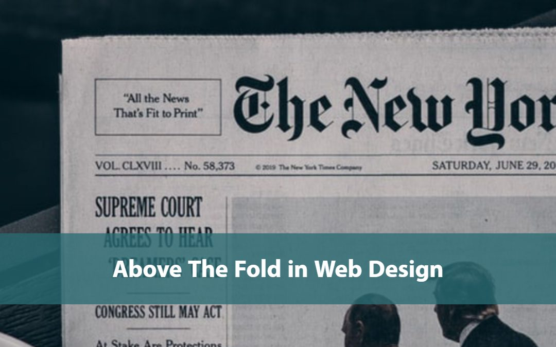 Above The Fold in Web Design